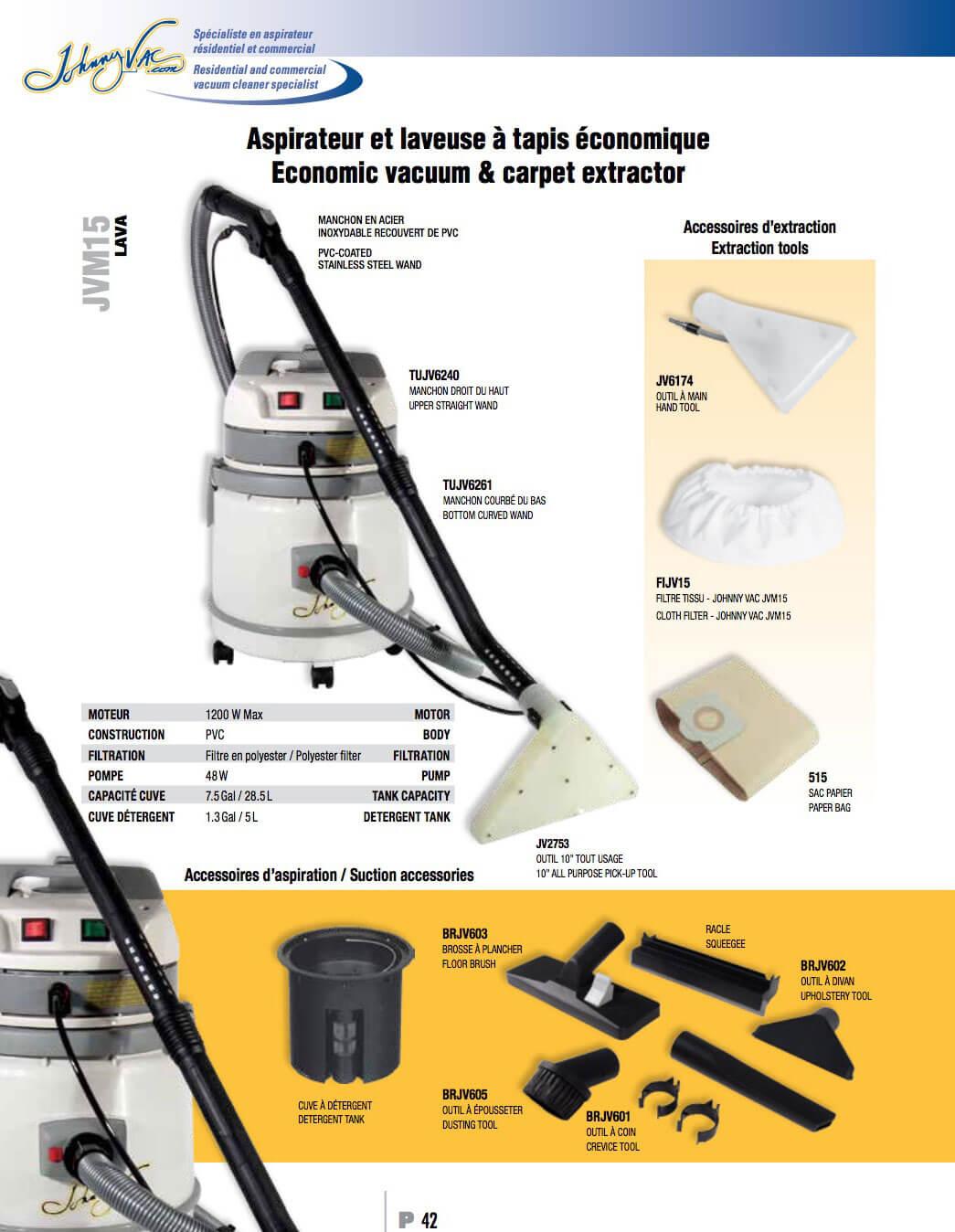 johnny vac aspirateurs pi ces et produits sanitaire. Black Bedroom Furniture Sets. Home Design Ideas